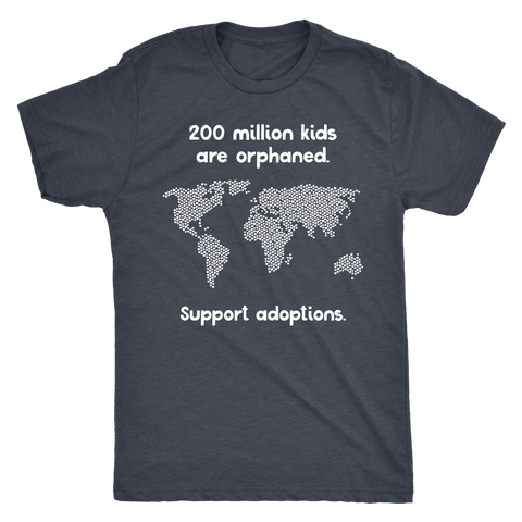 Next Level Mens Tri-blend Tee | Support Adoption
