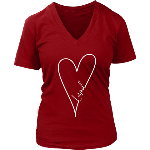 District Women's V-Neck Tee | Loved