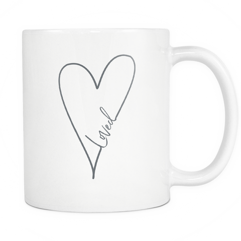 Loved Coffee Mug | White