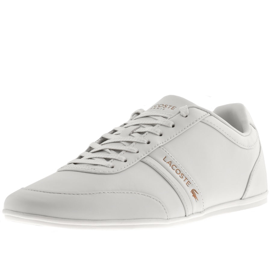 MEN'S STORDA 318 LEATHER TRAINERS (Off Wht/Off Wht)