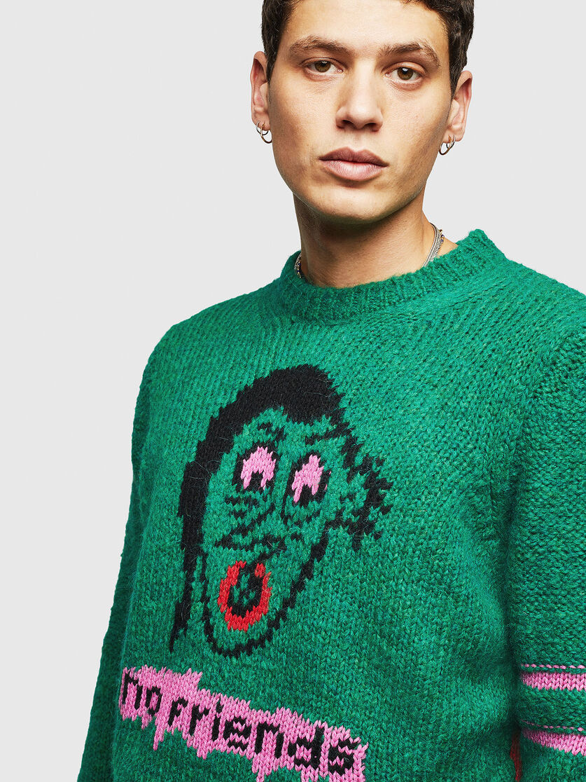 Sweaters and Knits K-BOBBY PULLOVER Dark Green