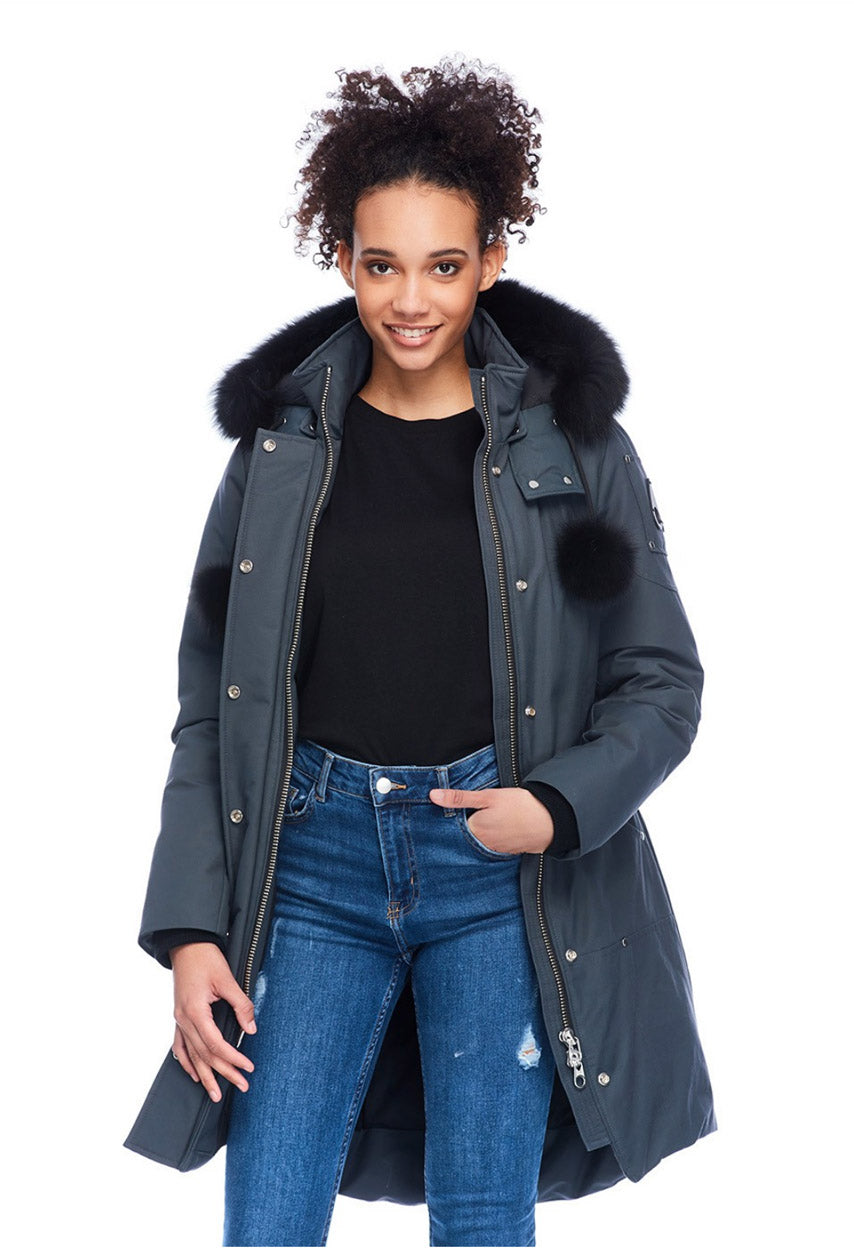 Stirling Parka Women's Granite/Black Fur