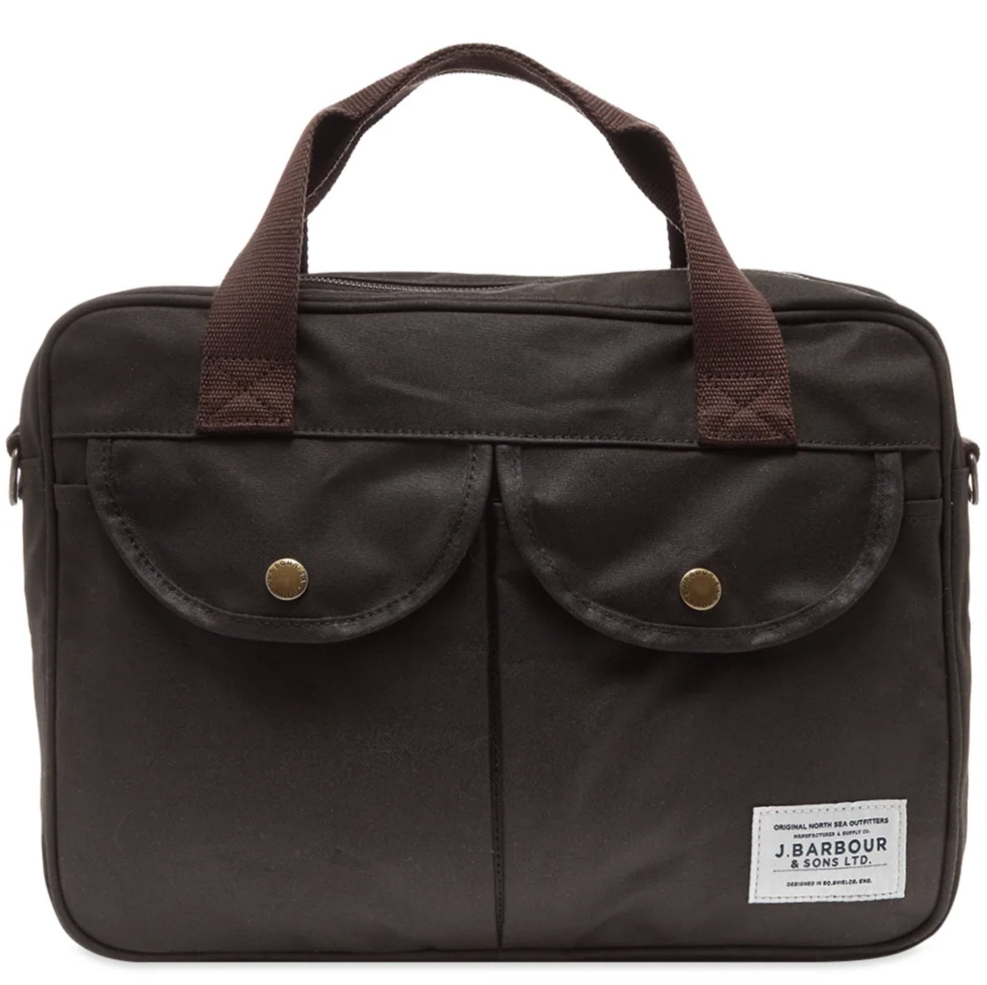 Wax Longthorpe Laptop Bag (Olive)