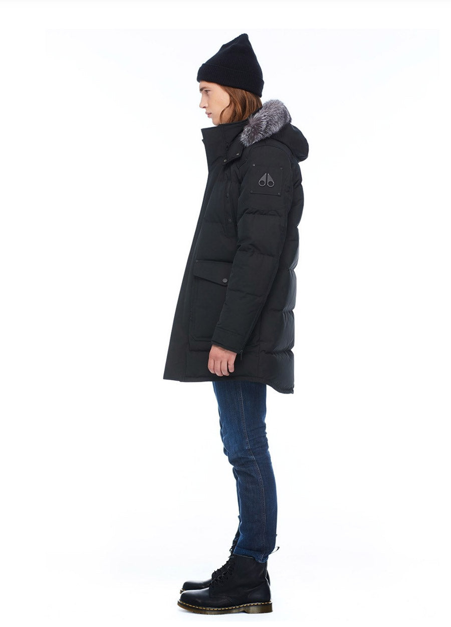 BIG RIDGE PARKA BLACK w FROST FUR