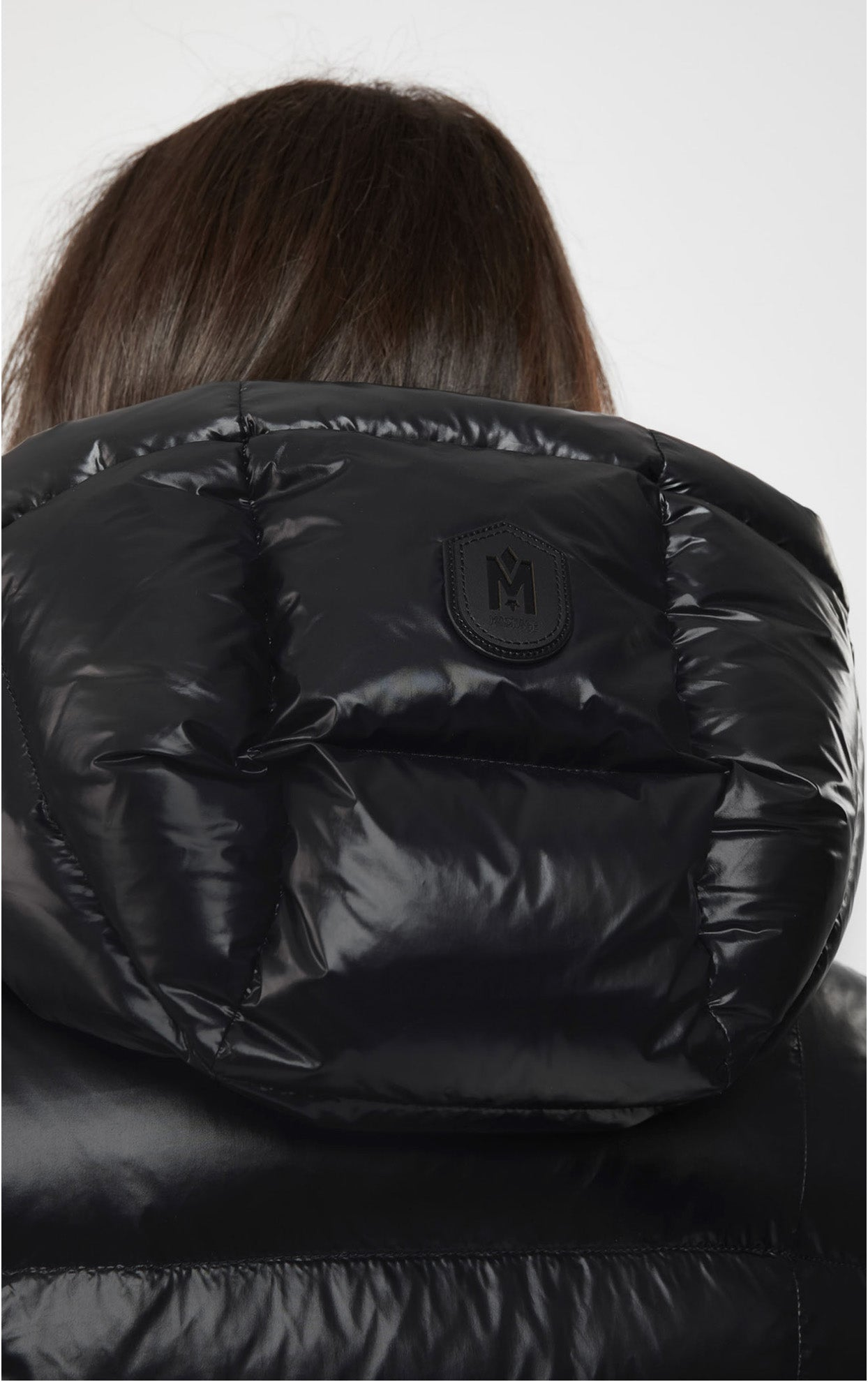 Madalyn down jacket with removable hood Black