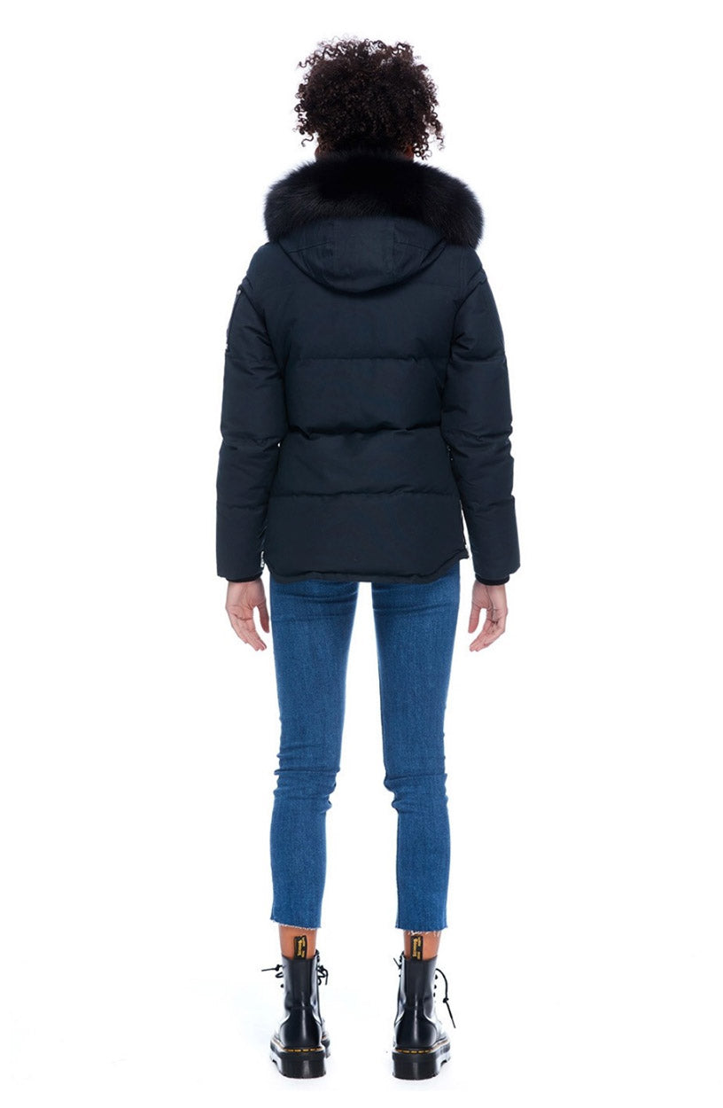 3Q Jacket LDS Navy / Black Fur