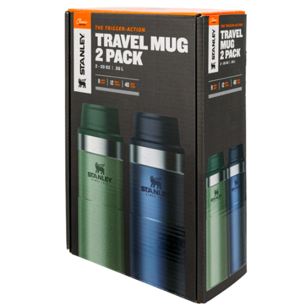CLASSIC TRIGGER-ACTION TRAVEL MUG TWIN PACK 20 OZ (H.GREEN+NIGHTFALL)