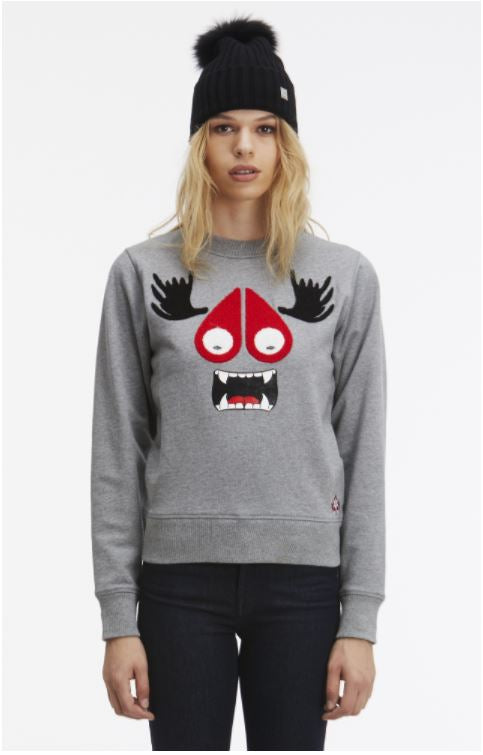 Moose Munster Sweatshirt Charcoal Melange
