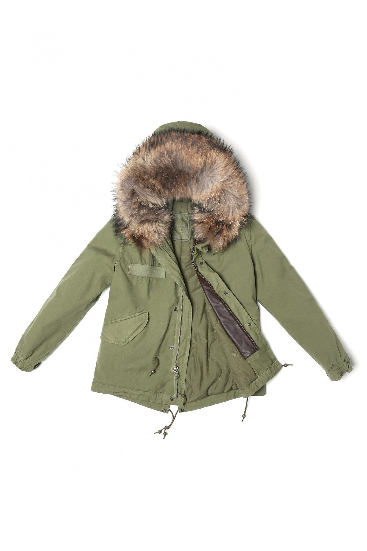 Army Parka Quilt Lining (Natural Fur)