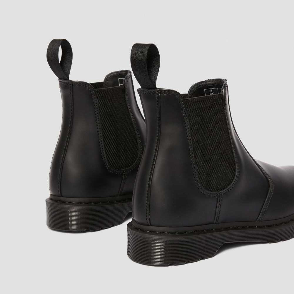 2976 MONO SMOOTH LEATHER CHELSEA BOOTS (BLACK)