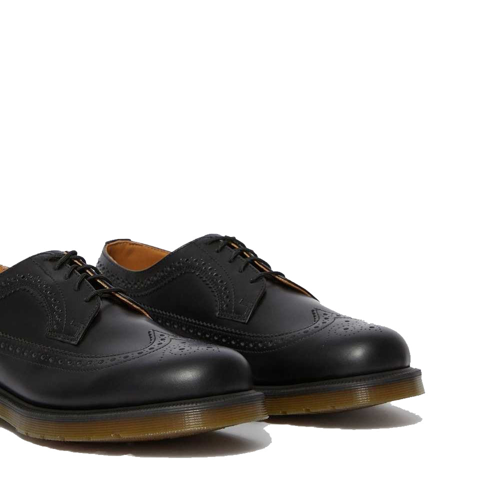 3989 SMOOTH LEATHER BROGUE SHOES (BLACK SMOOTH)