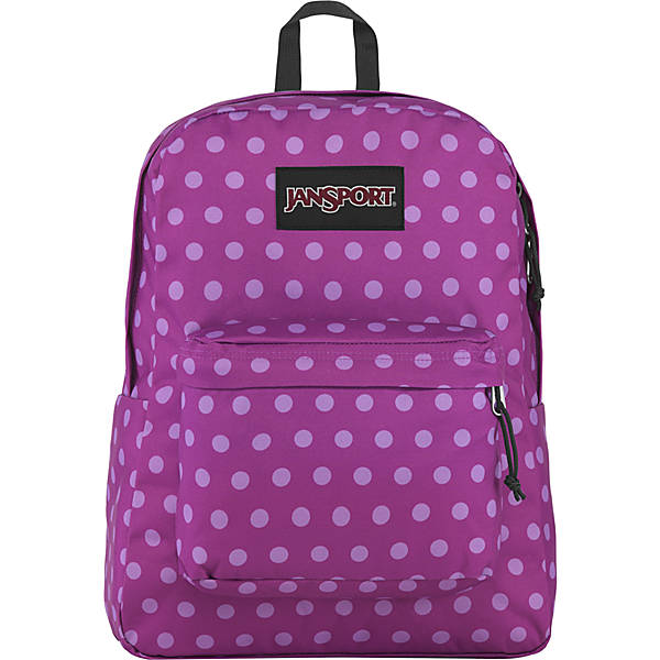 BLACK LABEL SUPERBREAK BACKPACK (PURPLE PLUM POLKA DOT)