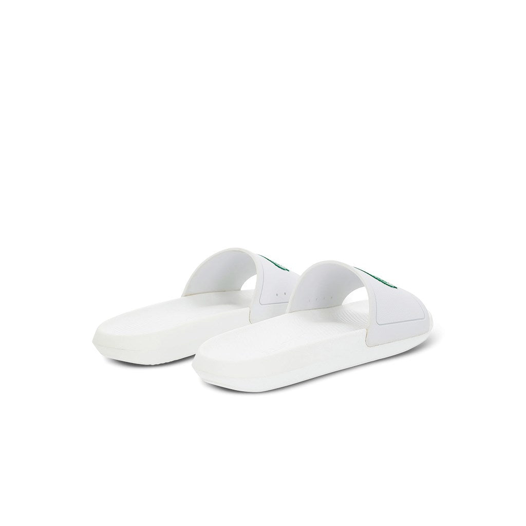 Men's Croco Slide 119 Rubber Slides (White/Green)