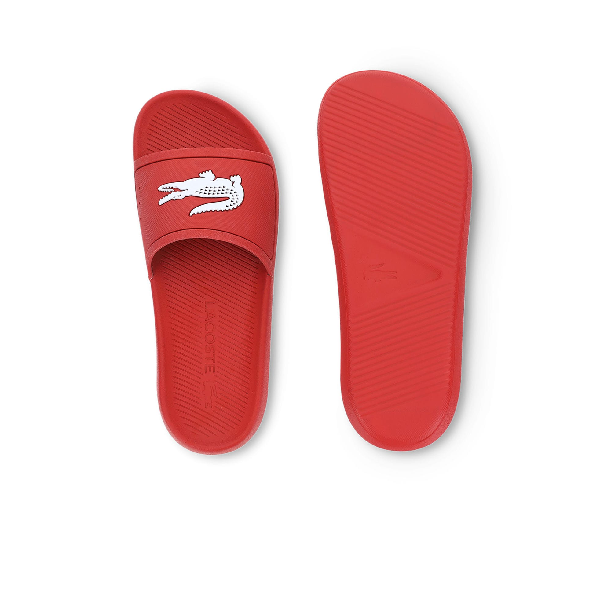 Men's Croco Slide 119 Rubber Slides (Red/White)