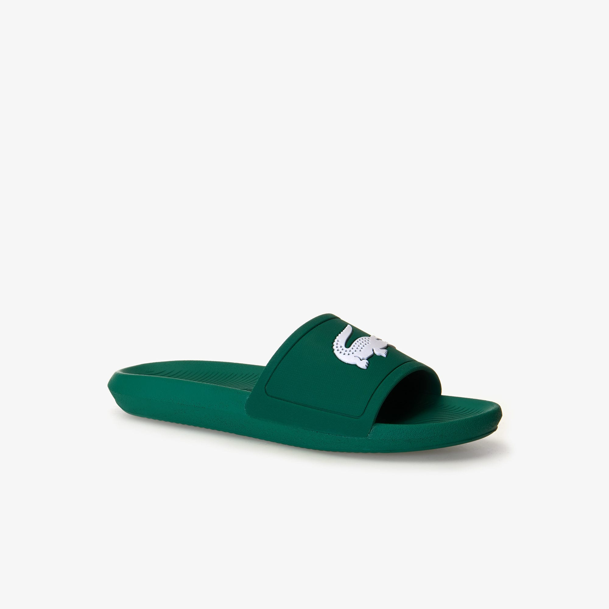 Men's Croco Slide 119 Rubber Slides (Green/White)