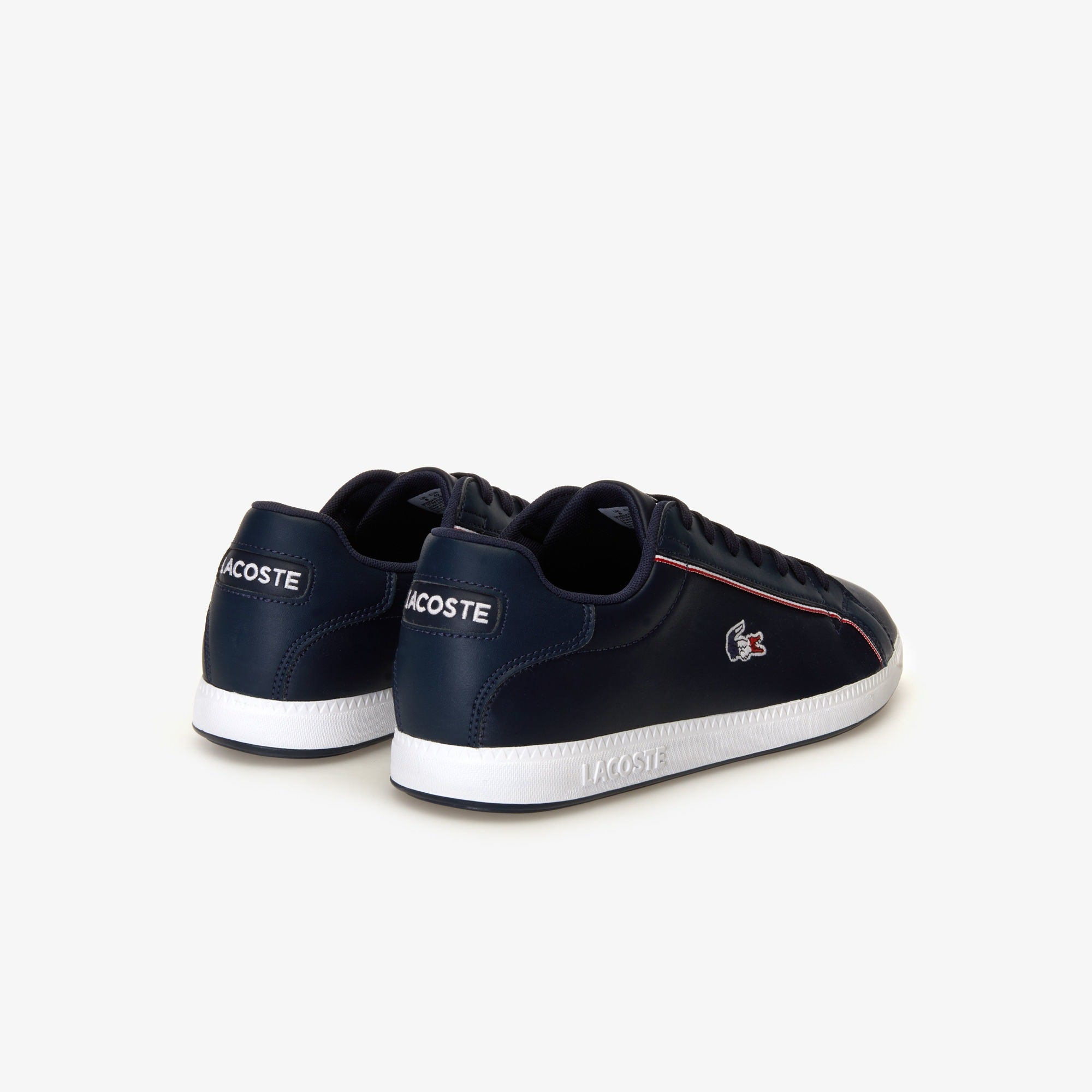 Men's Graduate 119 Leather Tricolor Sneakers (Navy/White/Red)