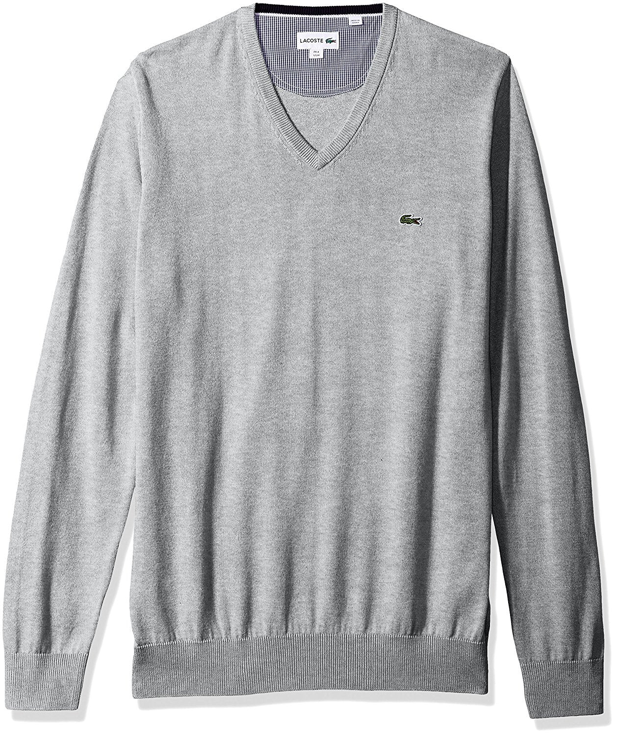 Men's V-Neck Cotton Jersey Sweater