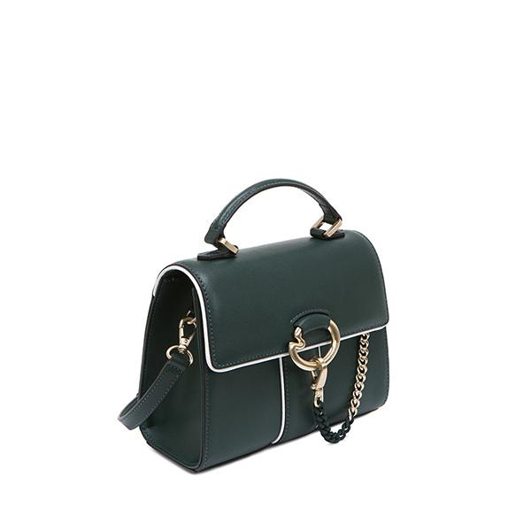 LAPALETTE CANNES ROSEE MINI SATCHEL BAG (GREEN/WHITE)
