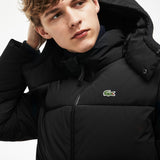 MEN'S DETACHABLE HOOD QUILTED WATER-RESISTANT TAFFETA JACKET