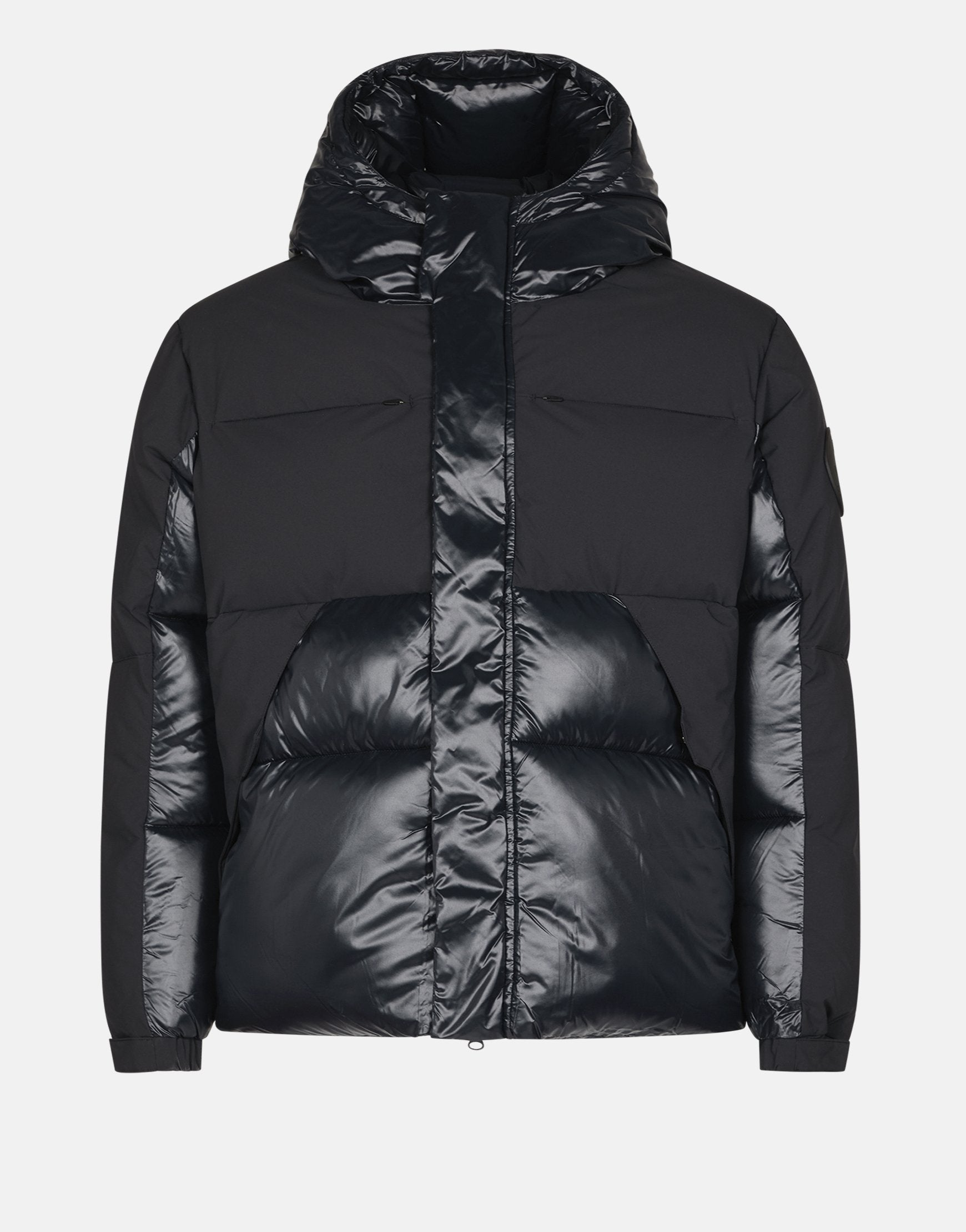 SAVE THE DUCK UNISEX LUMA HOODED PUFFER JACKET Black