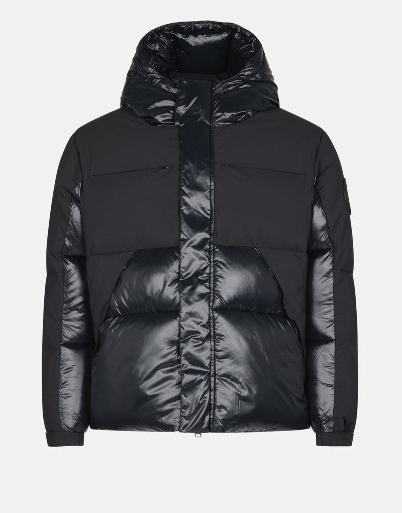 SAVE THE DUCK BOY'S GIGA HOODED PUFFER JACKET WITH FAUX