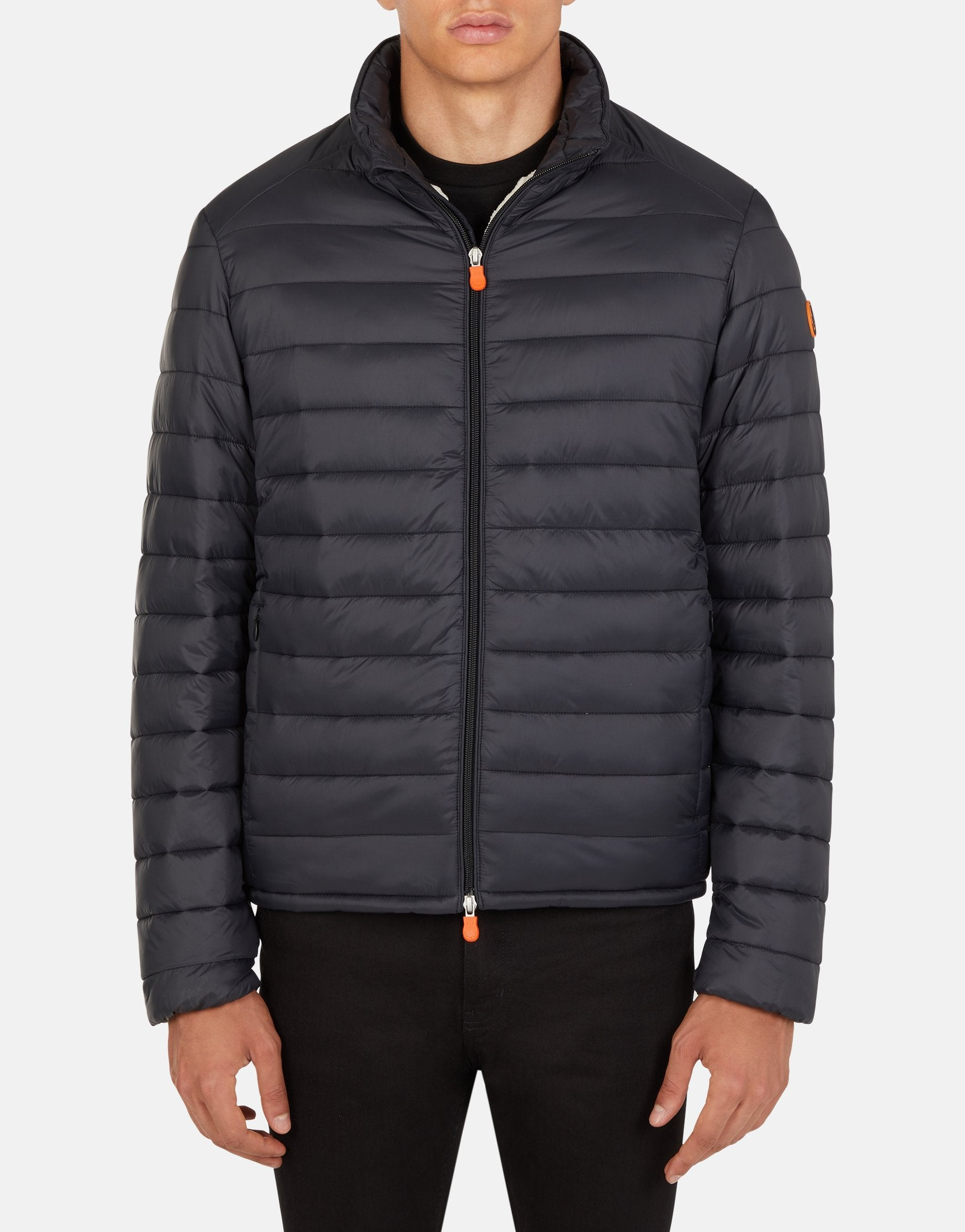 SAVE THE DUCK MEN'S GIGA PUFFER JACKET Brown Black