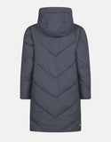 SAVE THE DUCK WOMEN'S RECY HOODED COAT EBONY GREY