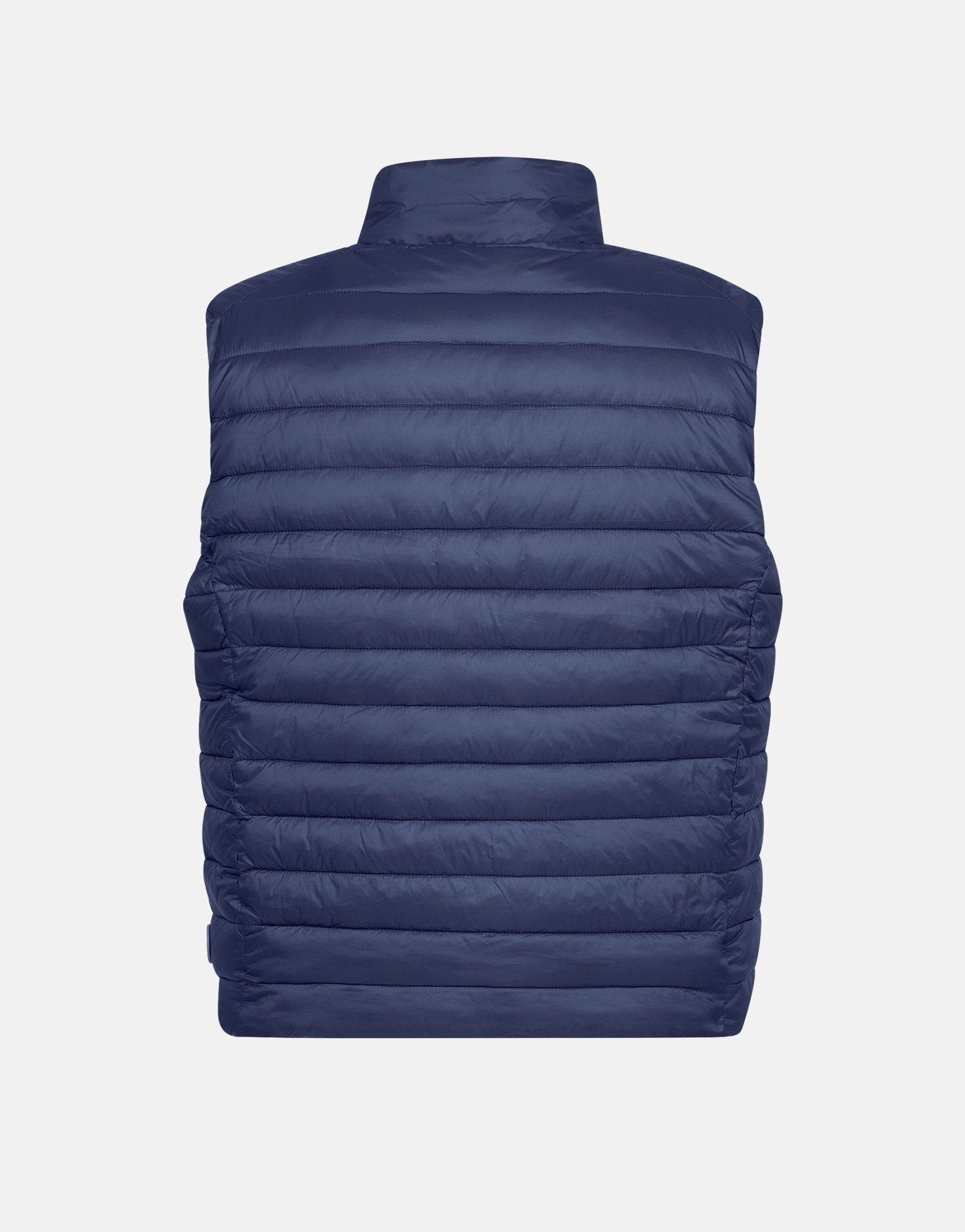SAVE THE DUCK MEN'S GIGA STAND COLLAR VEST Navy Blue