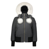 DEBBIE BOMBER (GRANITE W/ NATURAL FUR)