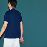 MEN'S SPORT CONTRAST BAND TECH PIQUÉ TENNIS POLO