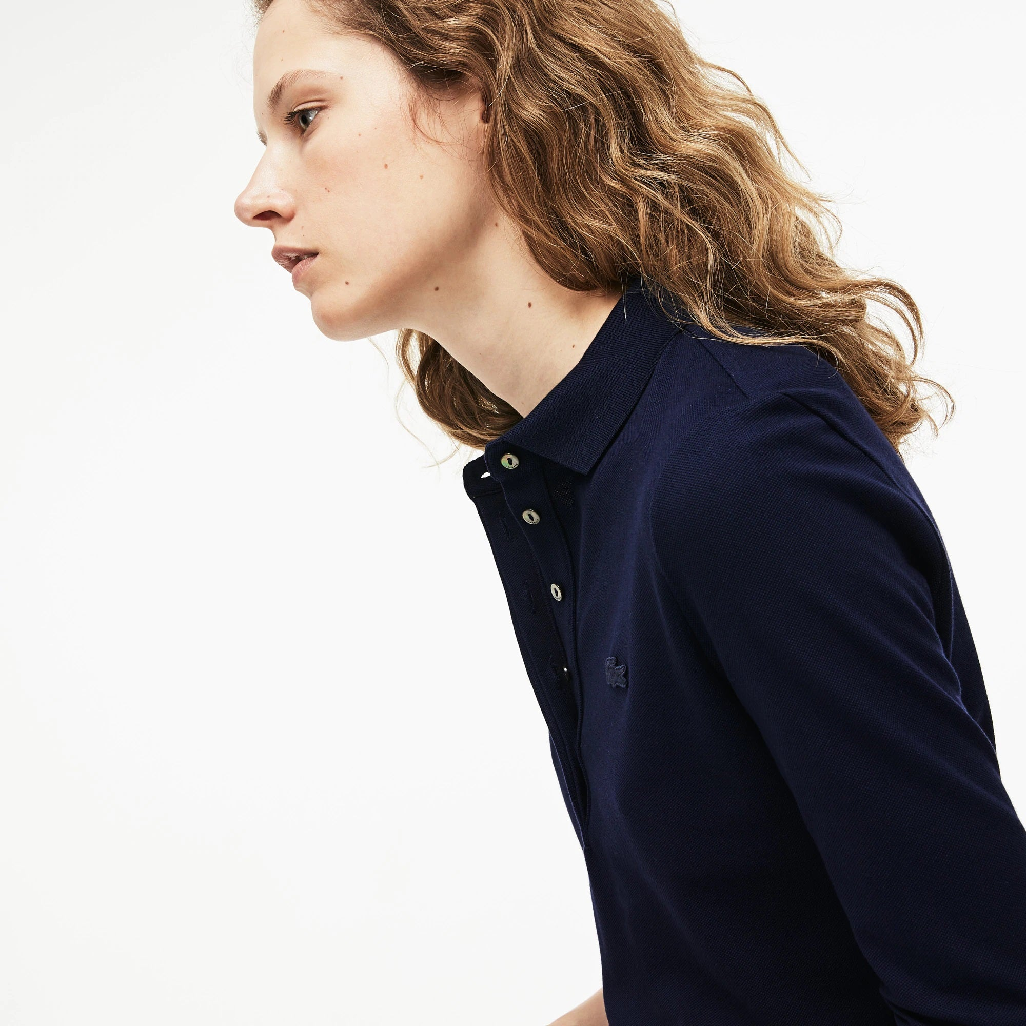 WOMEN'S SLIM FIT PIQUÉ POLO DRESS_NAVY BLUE
