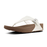 The Skinny Leather Toe-Thong Sandals (Urban White)