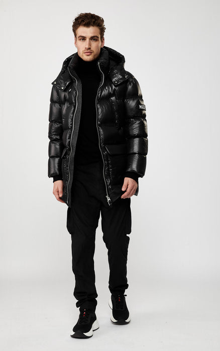 KENDRICK (BLACK) down puffer with removable hood