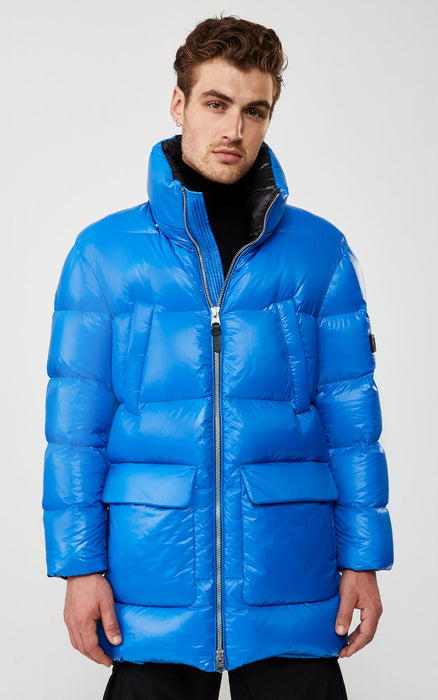 KENDRICK (COBALT) down puffer with removable hood