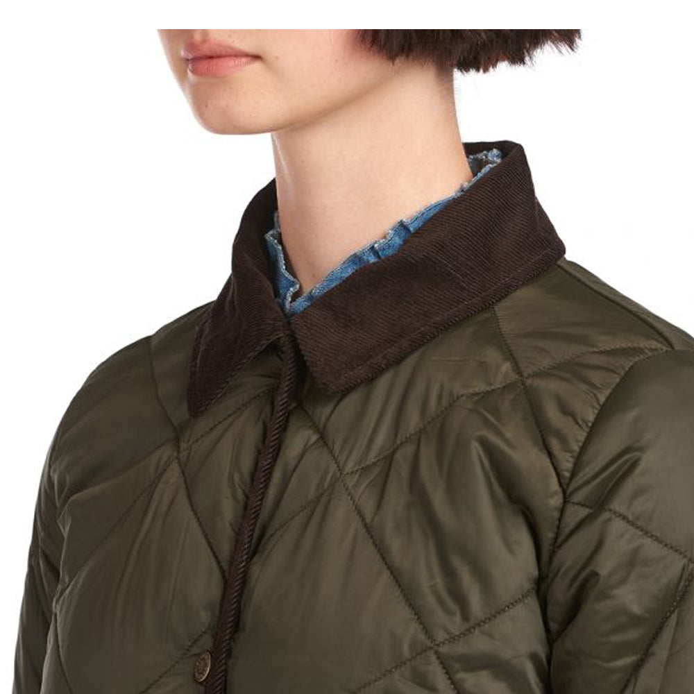 BARBOUR PEPPERGRASS QUILTED JACKET (EGGPLANT, SAGE)