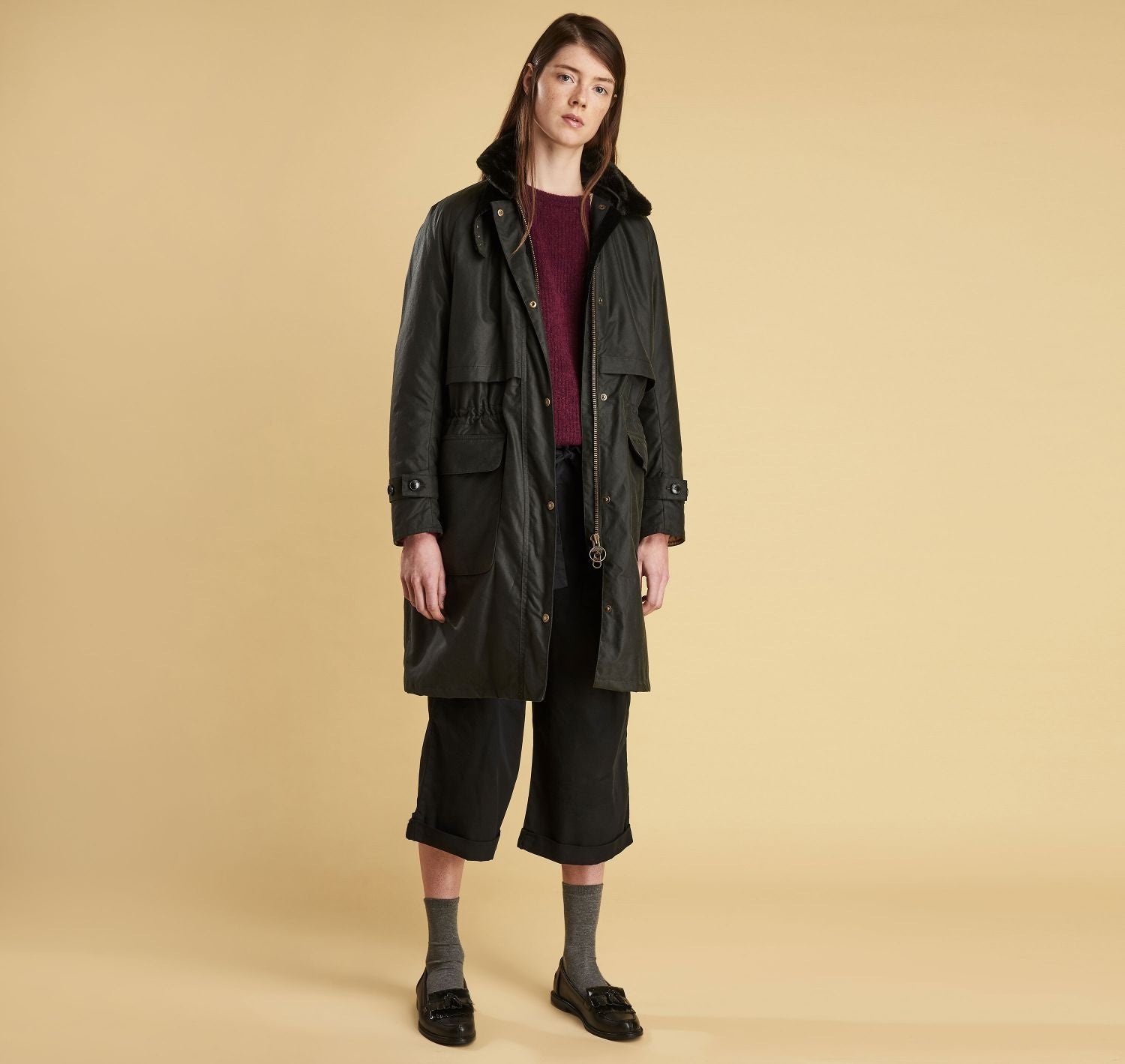 Margaret Howell Floree Wax Jacket (Sage)