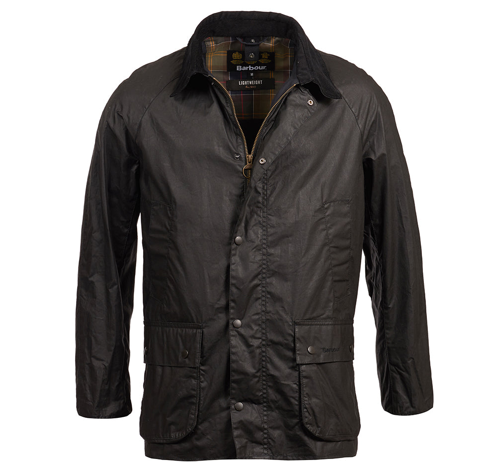 Lightweight Ashby Wax Jacket (Black)