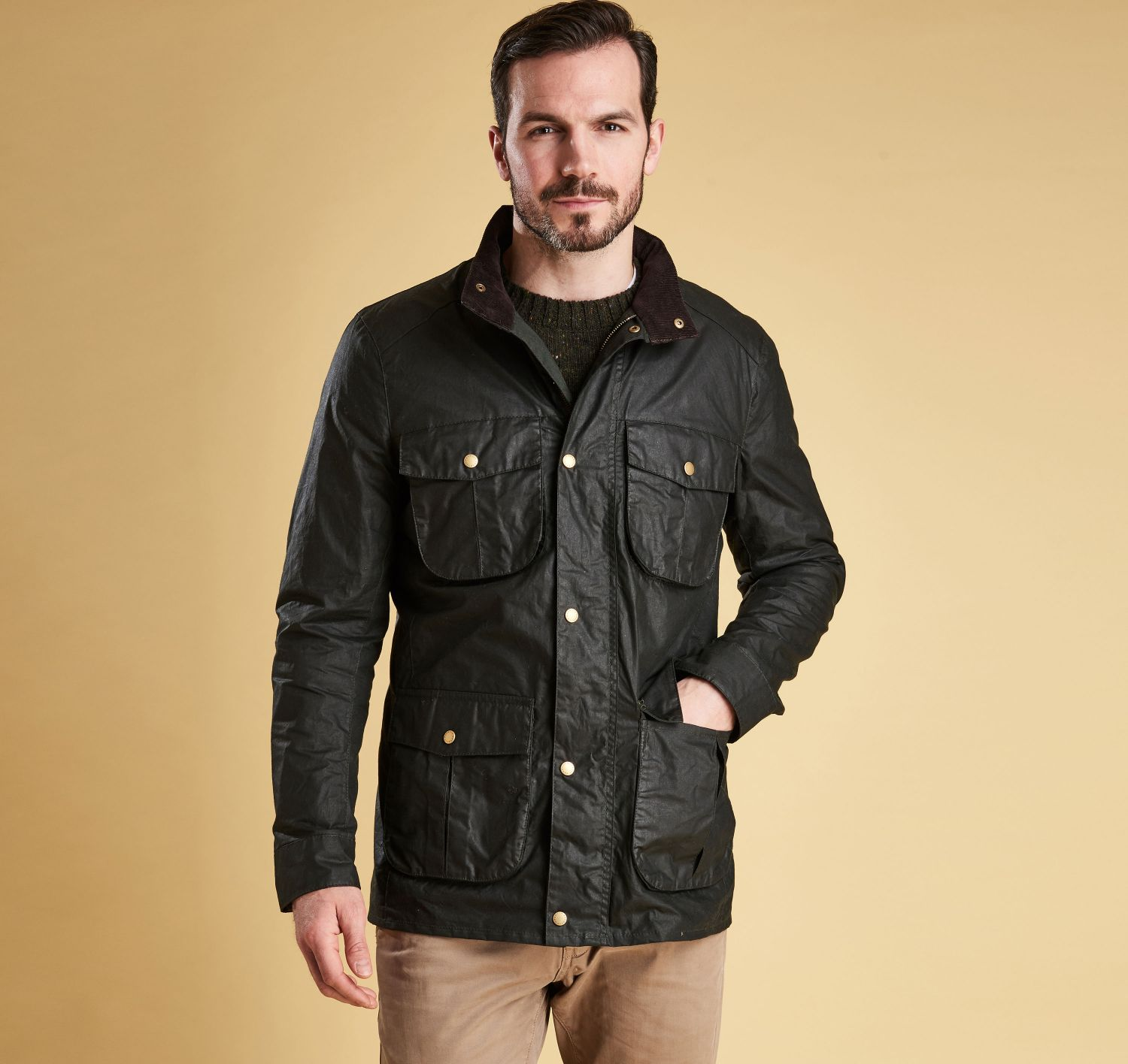Lightweight Corbridge Wax Jacket (Sage)