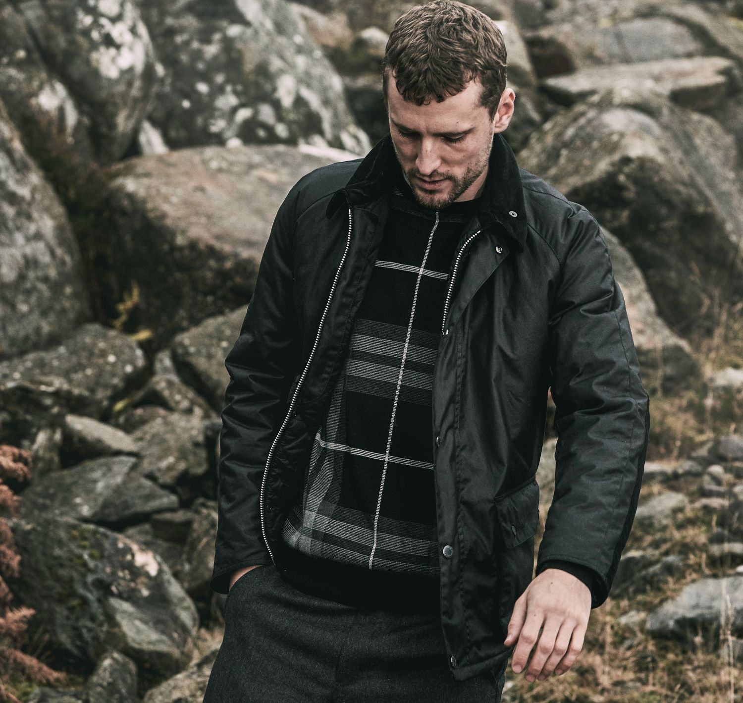Strathyre Wax Jacket (Black)