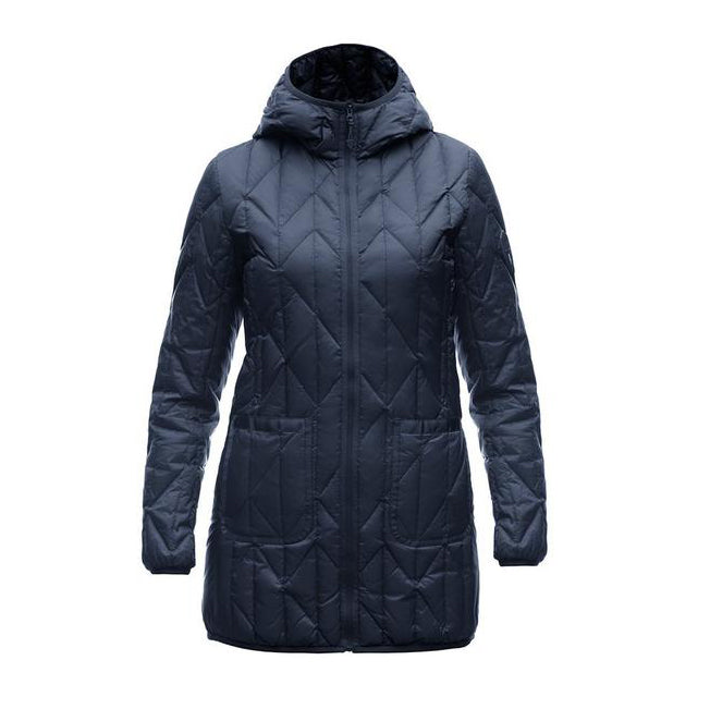 HESTER LADIES QUILTED HOODED INSULATOR (NAVY)