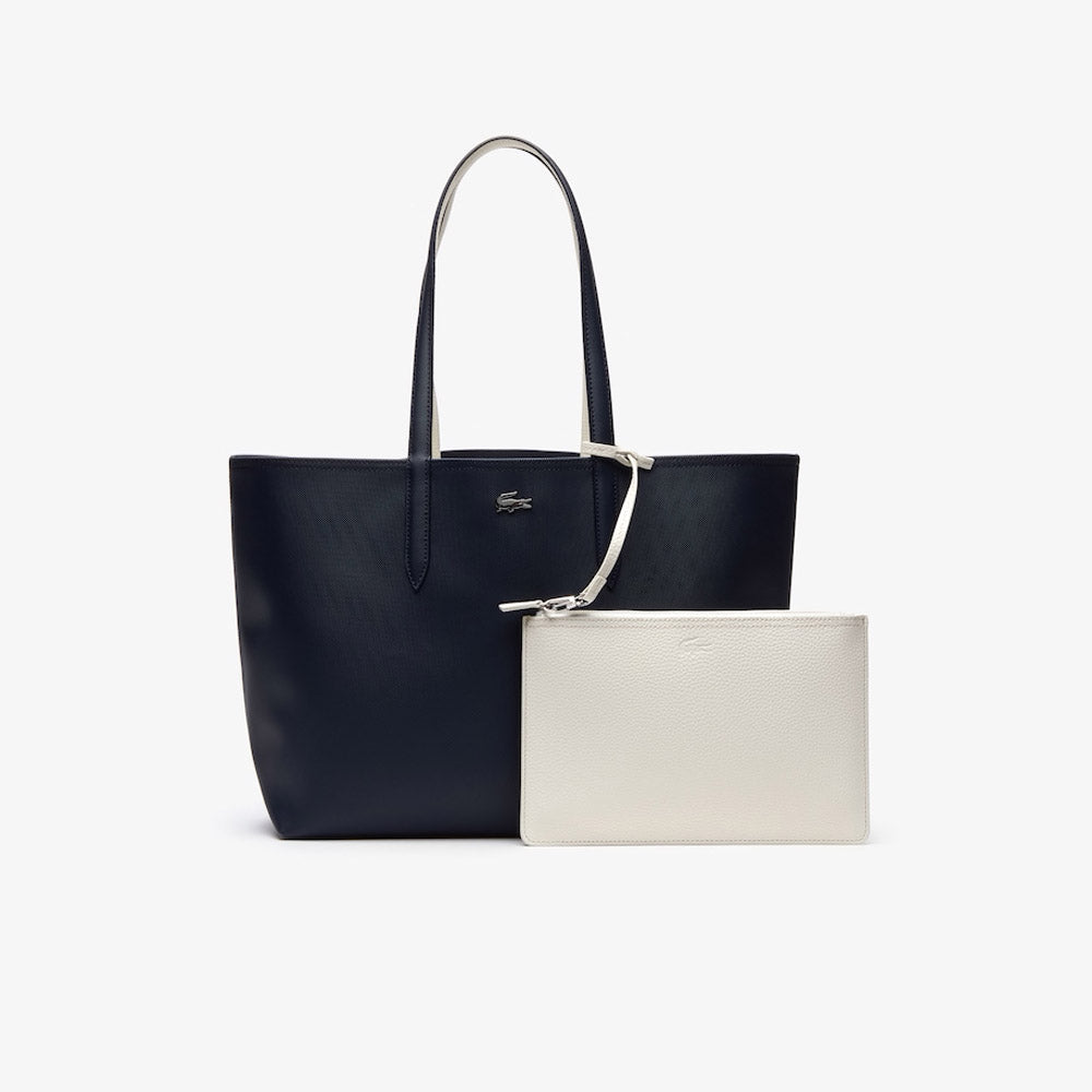 Anna Reversible Bicolor Tote Bag DARK SAPPHIRE MARSHMALLOW