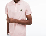 Men's Regular Fit Cotton Petit Pique Polo (Light Pink)
