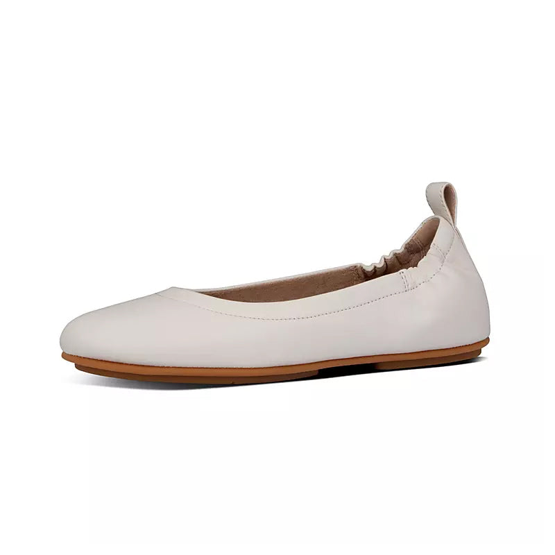 ALLEGRO LEATHER BALLET FLATS (STONE)