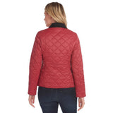 BARBOUR DEVERON QUILTED JACKET (WINTER PEARL/NAVY/DEEP CLARET)