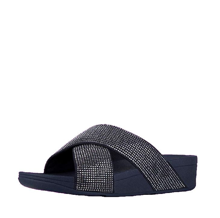 RITZY SLIDE SANDALS (BLACK, PEWTER, MIDNIGHT NAVY, GOLD MIX)