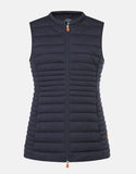 SAVE THE DUCK WOMEN'S SOLD STRETCH VEST BLUE BLACK