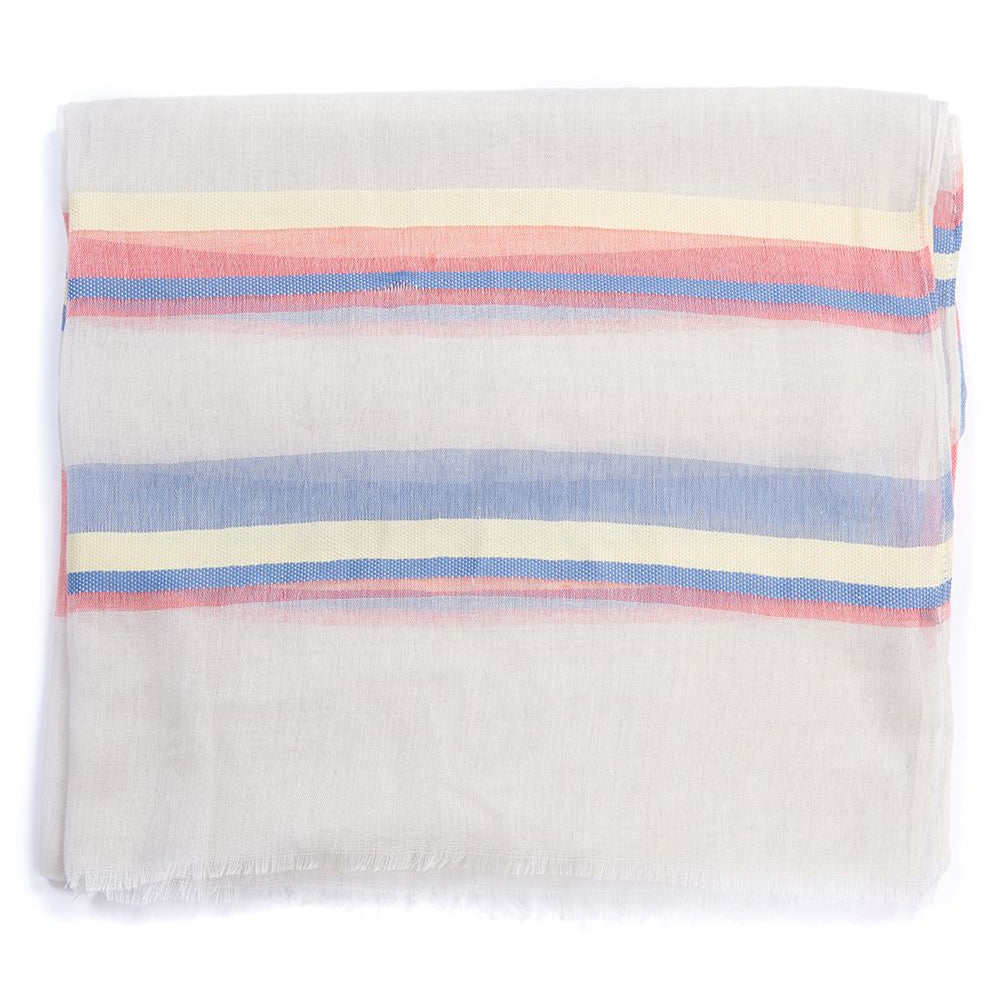 BARBOUR TWO TONE WRAP (CORAL/YELLOW/BLUE)
