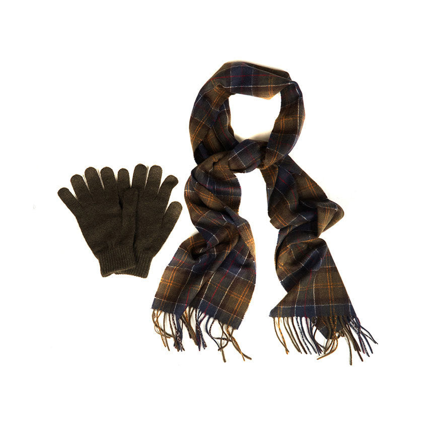 Men's Scarf and Gloves Gift Box Set
