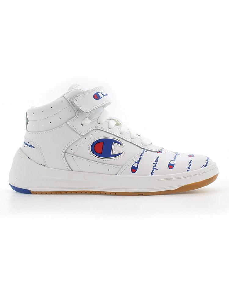 Champion Women's Super C Court Print Leather Sneakers (White)