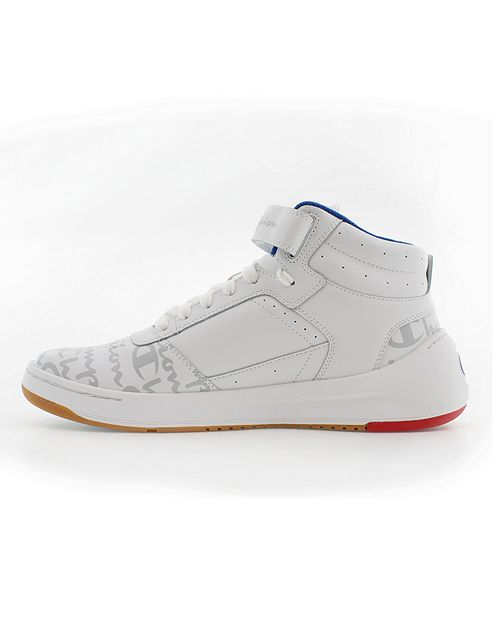 Champion Men's Super C Court Leather Sneakers (White)